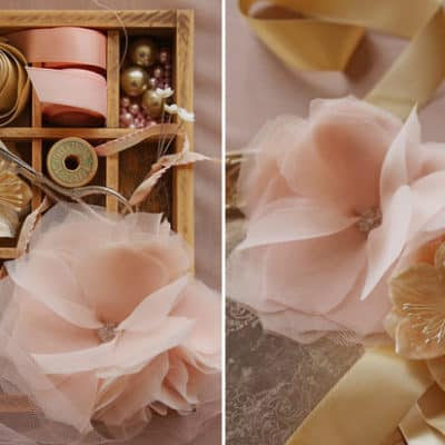 DIY gorgeous chiffon flowers