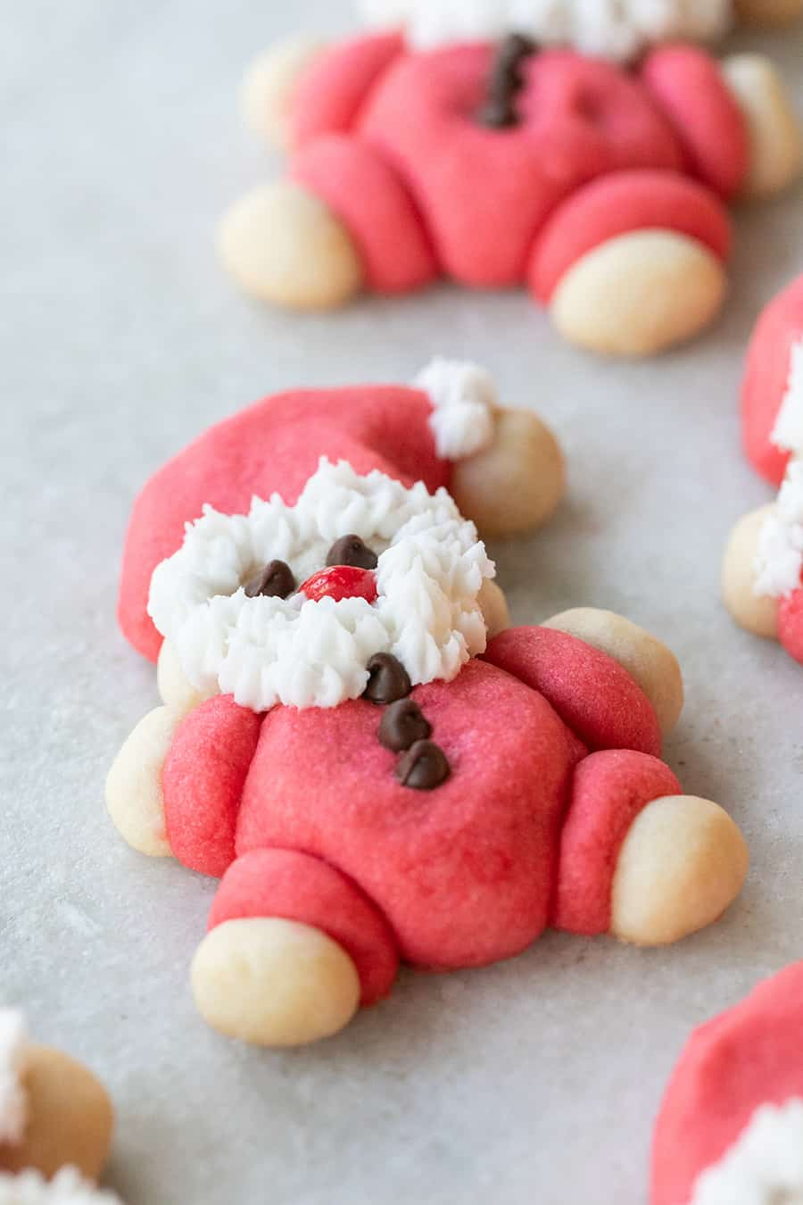 Santa Cookies with a fluffy white beard