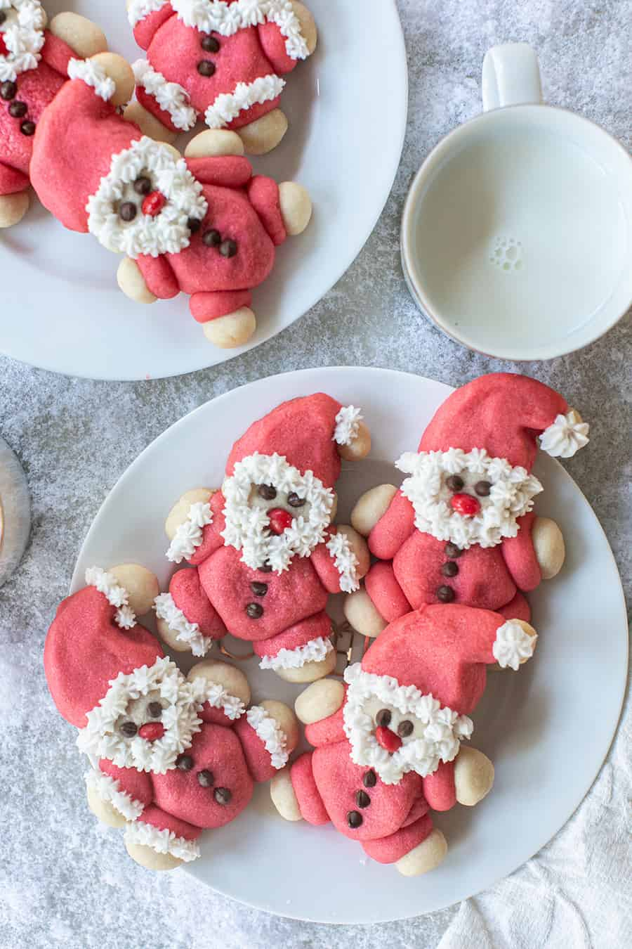 Buttery santa cookies