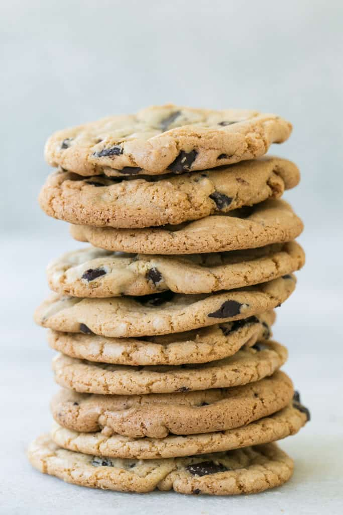 Butter-less Chocolate Chip Cookies - Sugar and Charm