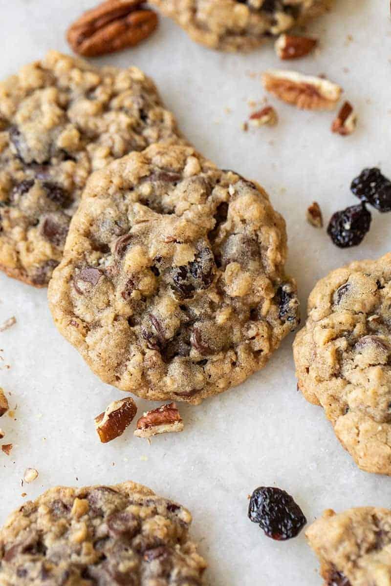 Chocolate cherry chunk cookies