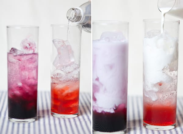 italian soda recipe being made