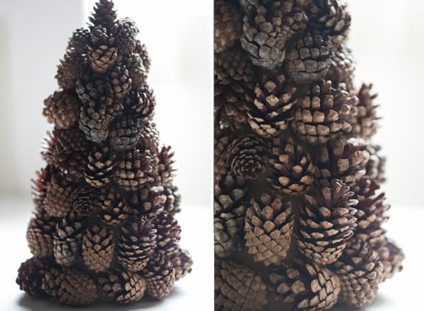 Pinecone Tree Craft Sugar And Charm Sweet Recipes  - Pine Cone Christmas Trees