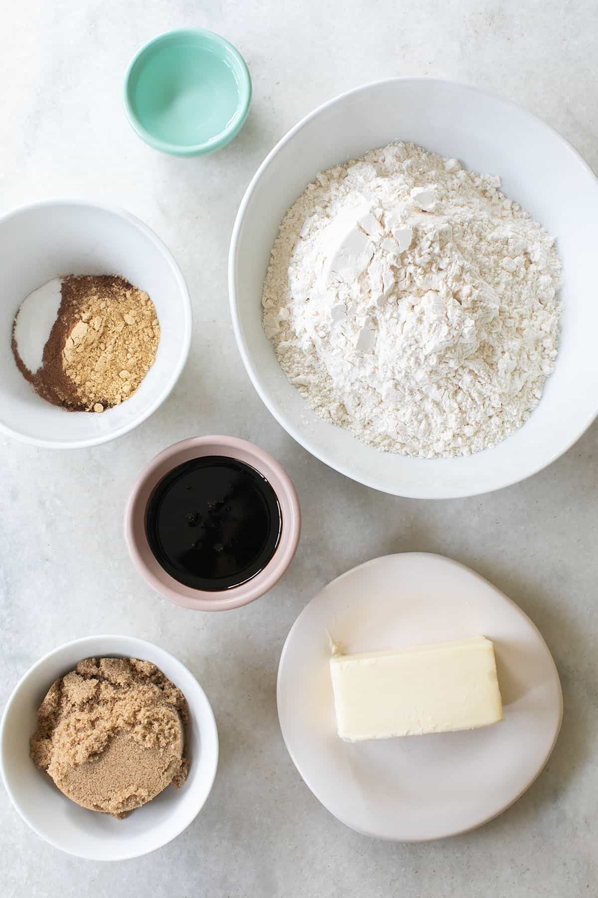 ingredients to make a gingerbread tree