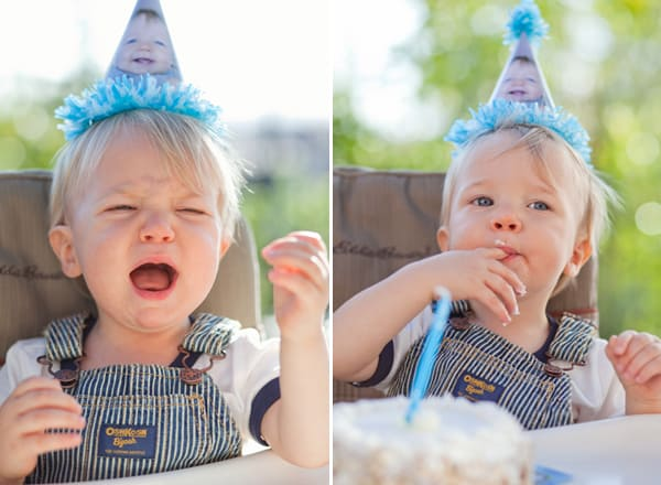 photo of child wearing diy party hat