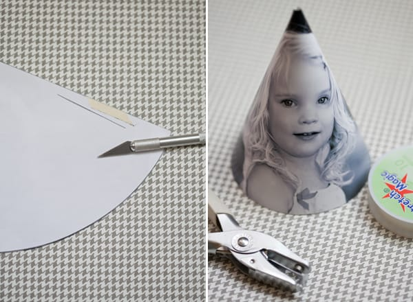diy party hat with template