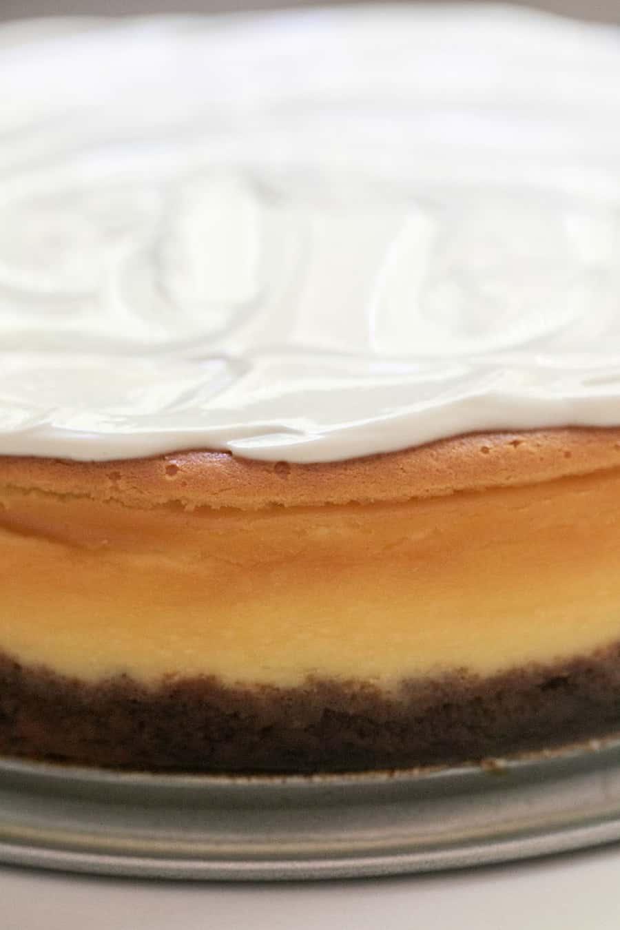 layers of cheesecake