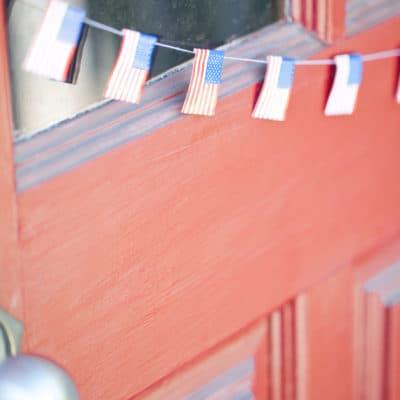 DIY 4th of july flag garland