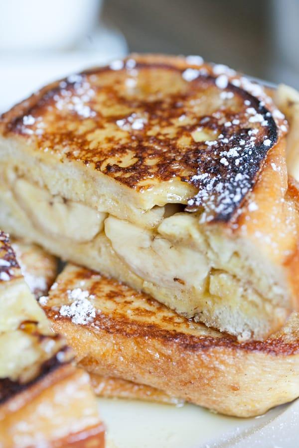 Banana Breakfast Sandwiches Sugar And Charm
