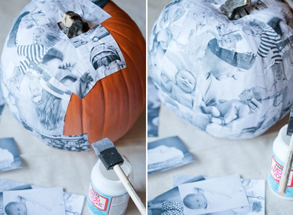 Decoupage pumpkin diy