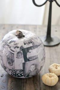 Decoupage Photo Pumpkin
