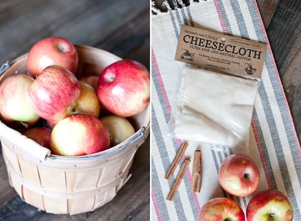 shot of apples in a basket