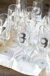 Countdown Champagne Glasses for New Years