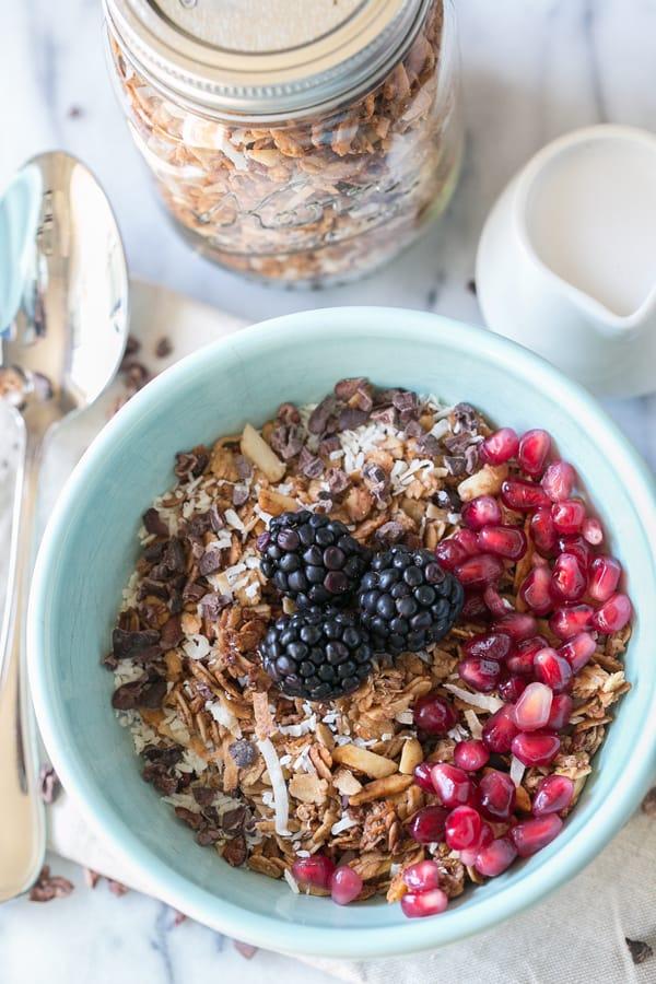 Sweet Mornings - Organic Cacao, Coconut and Quinoa Granola