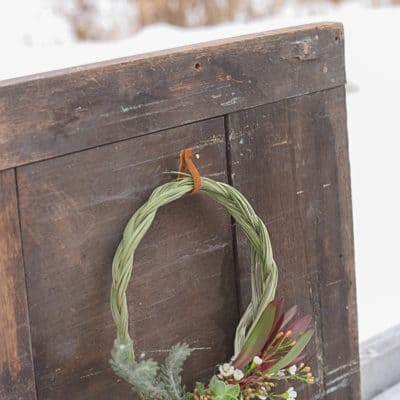 The Perfect January DIY Wreath