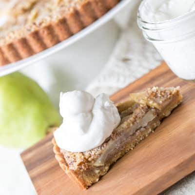 Pear Tart Recipe with Brown Butter, Rum and Pecans