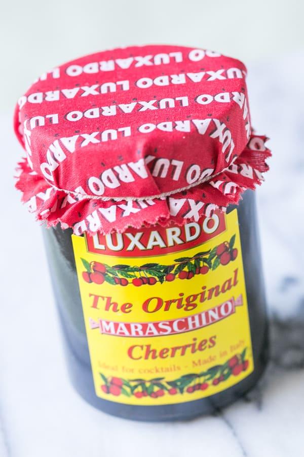 jar of maraschino cherries