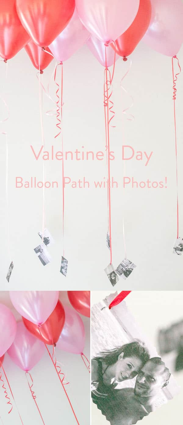 Balloons with photos for Valentine's Day