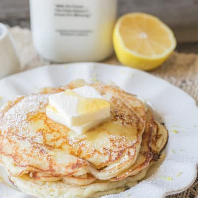 Sweet Mornings – Lemon Ricotta Pancakes with Homemade Ricotta