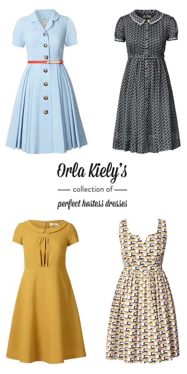 When I Think Of The Ultimate Hostess Dress A Retro Perfectly Tailored With Little Flair London Based Designer Orla