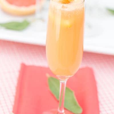 Grapefruit mimosa recipe