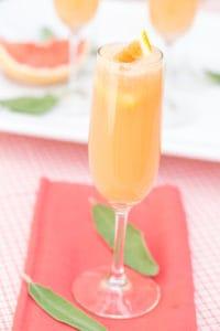 Grapefruit Mimosas