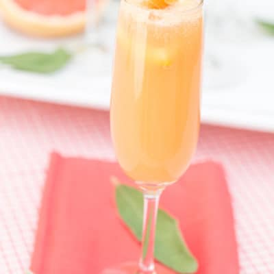 Grapefruit Mimosa – A Brunch Cocktail!