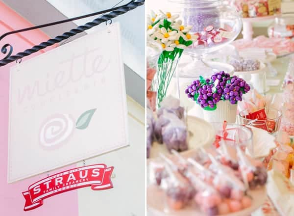 Miette sign and candy store