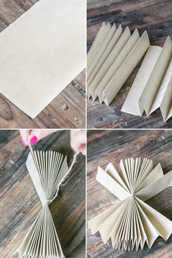 collage of how to fold