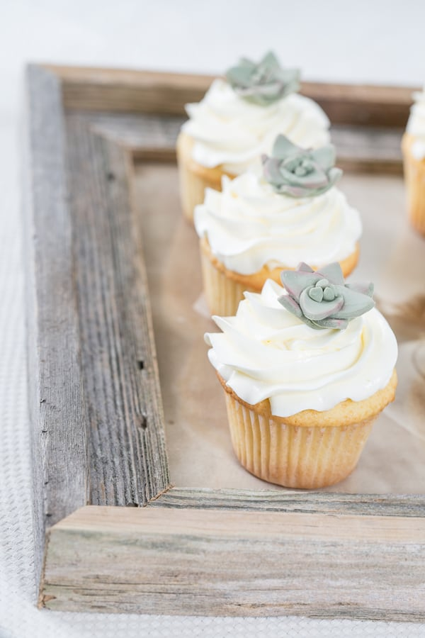 diy cupcake toppers on cupcakes