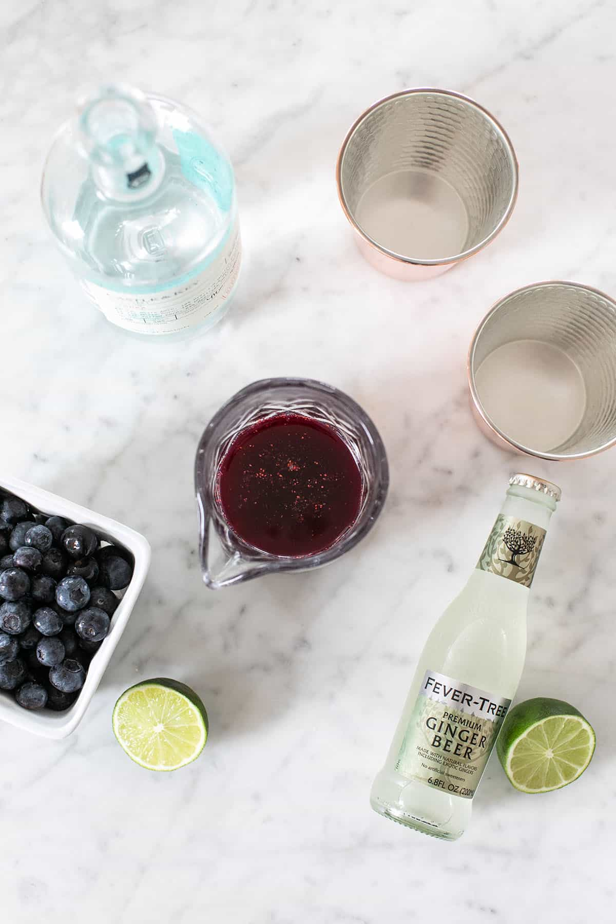 blueberry Moscow Mule ingredients