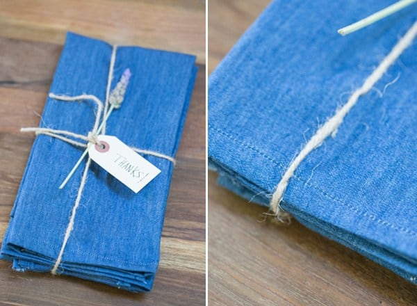 DIY denim napkins from old jeans