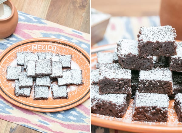 Mexican brownies on a plate