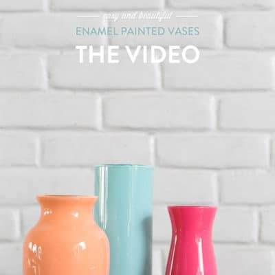 Video: Enamel Painted Vases