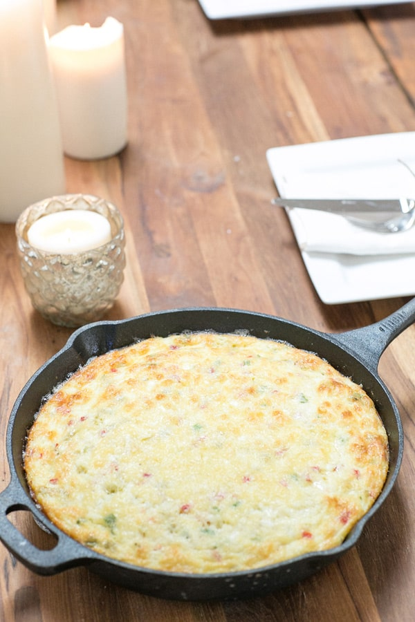 shot of best ever frittata recipe in a skillet