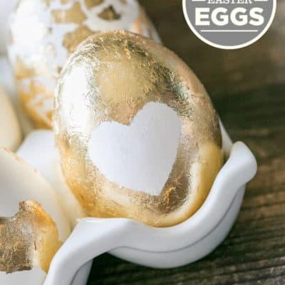 Gold Leaf Easter Eggs!
