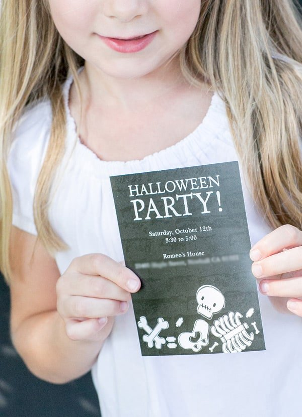 shot of kids halloween party idea, a party invite