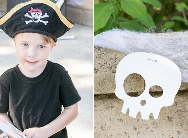 shot of another child dressed as a pirate