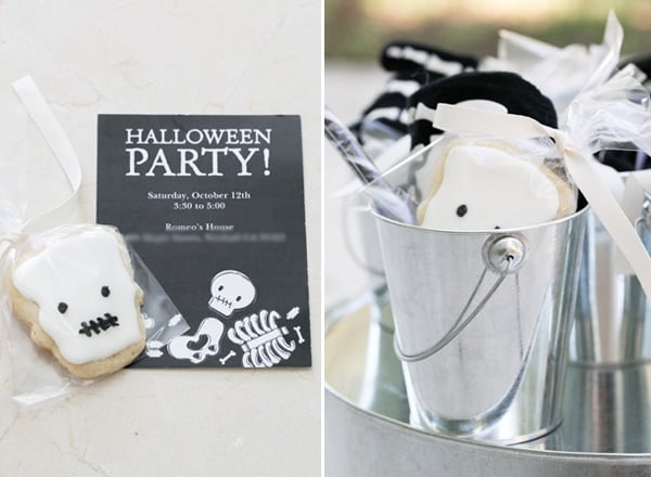 shot of kids halloween party idea, party favors
