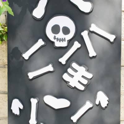DIY Magnet Board + Foam Skeleton Magnets!