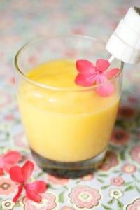 mango agave wine blended cocktail