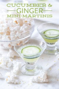 Cucumber and ginger mini-martinis