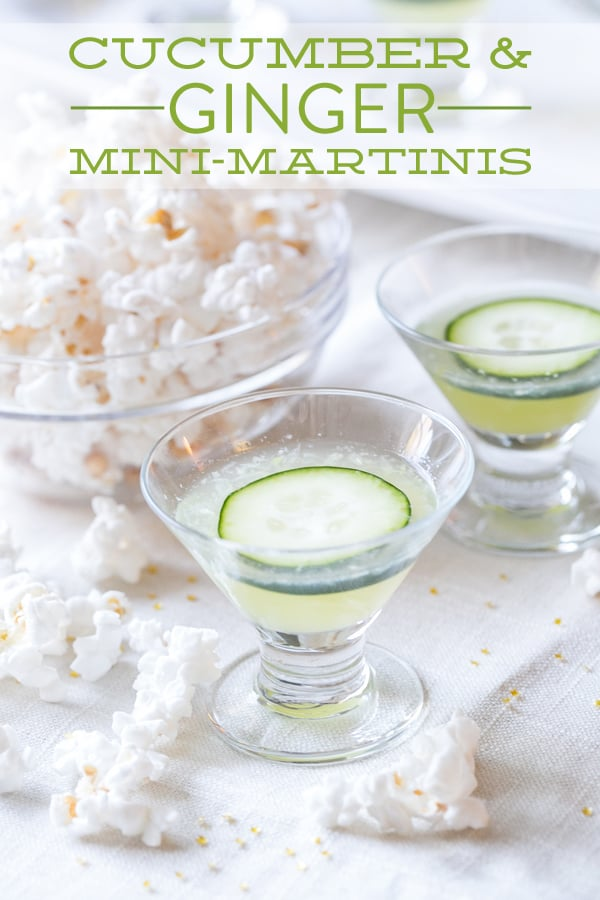 Cucumber martini with ginger