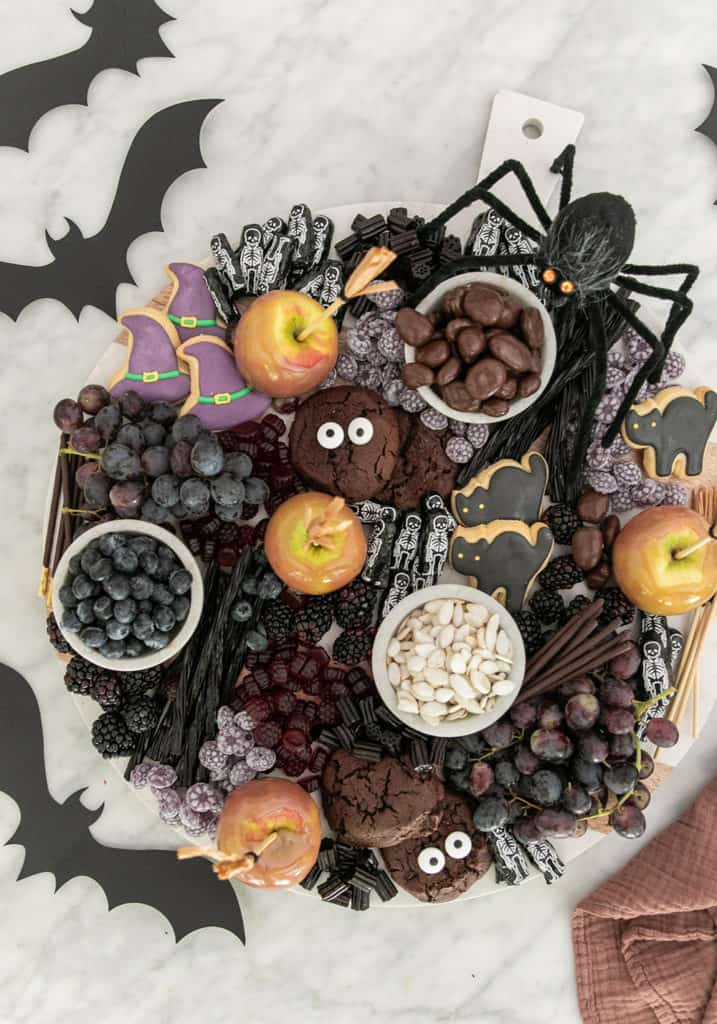Desserts platter for Halloween
