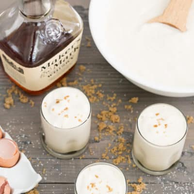 Spiked Eggnog with Butterscotch