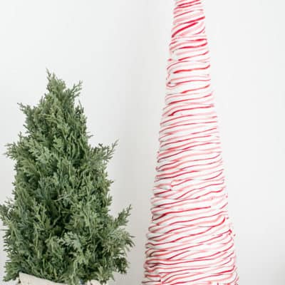 DIY Candy Cane Tree