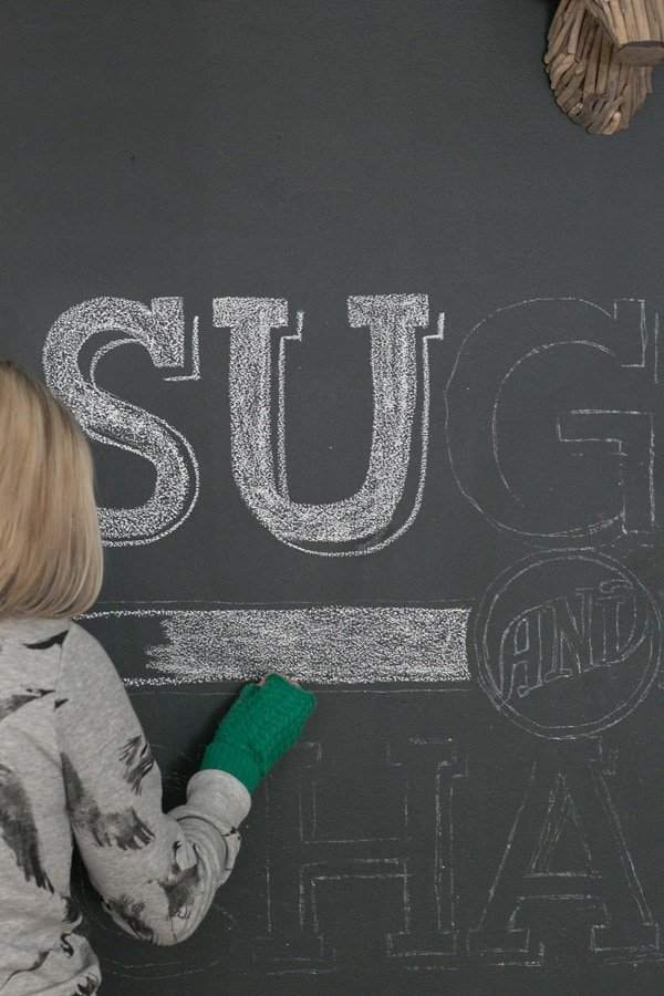 Transferring Type and Logos to a Chalkboard Wall