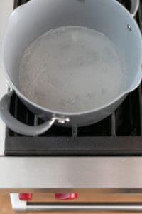 Sugar in a saucepan