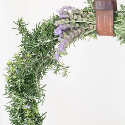 DIY Rustic Wreath with Rosemary