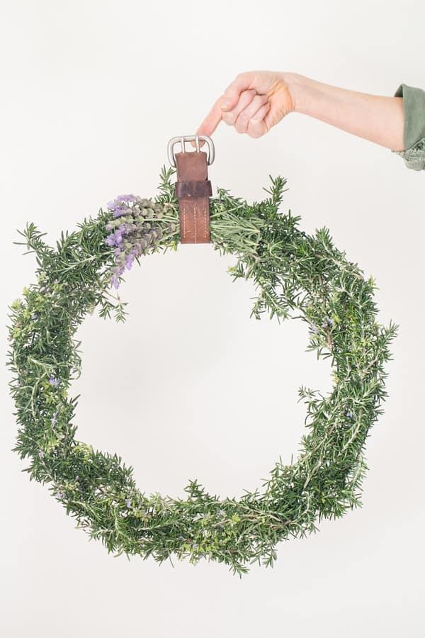 shot of rustic wreath
